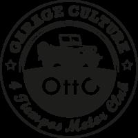 Logo negro de OTTO 4 tiempos Club del motor de Nave 108